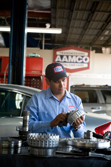 Image of AAMCO Mechanic working on a Transmission