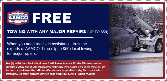 Image of Free Towing With Major Repair Coupon and tow truck