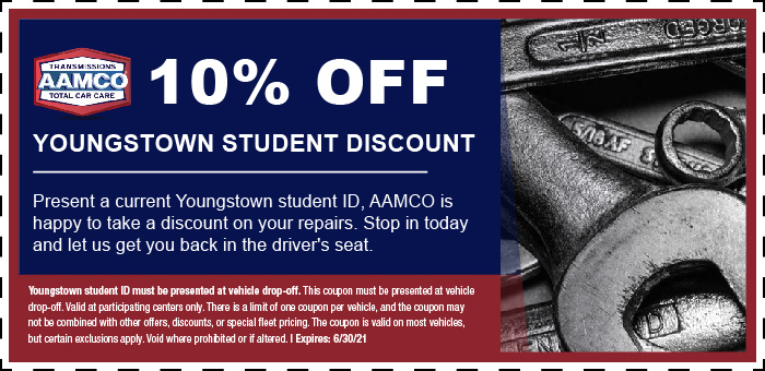 image of student discount coupon with pile of mechanic tools